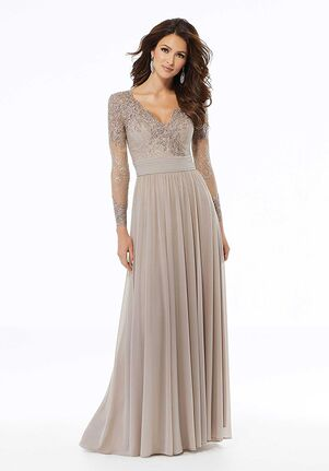 MGNY 72118 Gray,Black Mother Of The Bride Dress