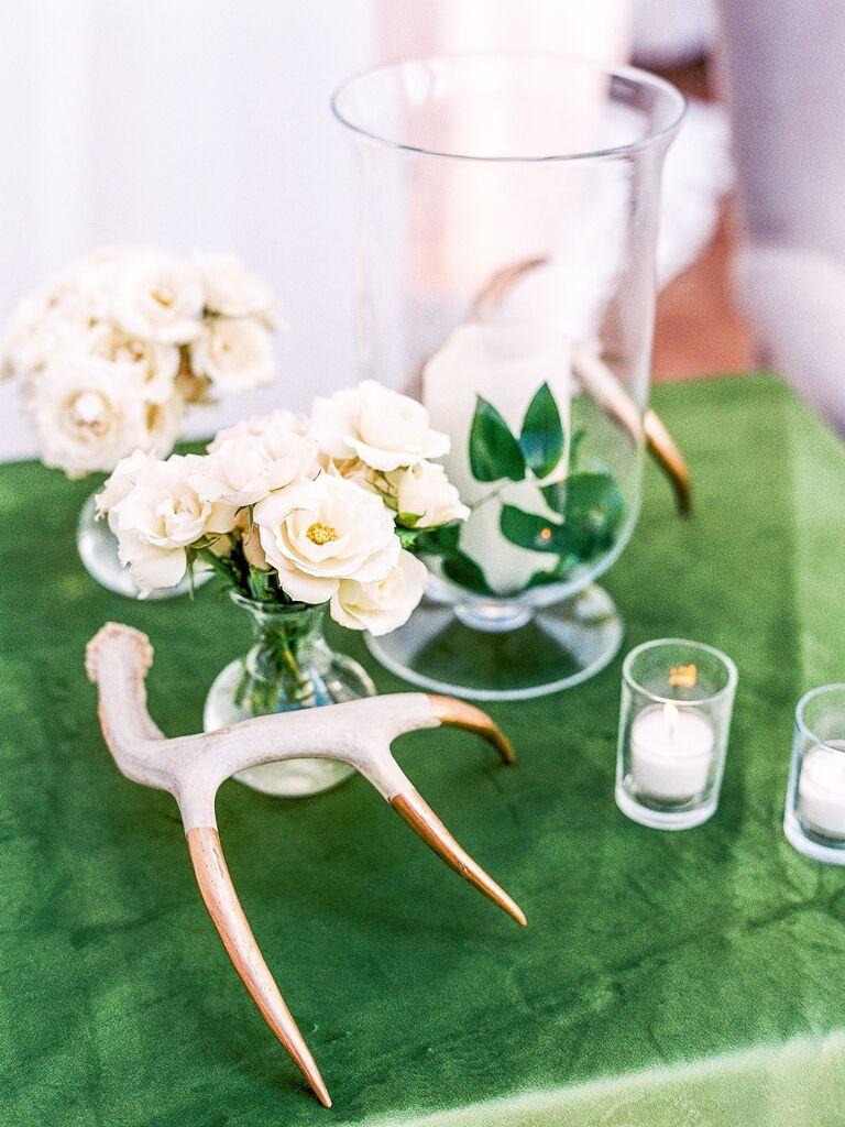 Wedding Centerpieces Gold Antlers