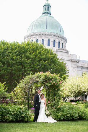 Allure Trumpet-Style Beaded Wedding Dress
