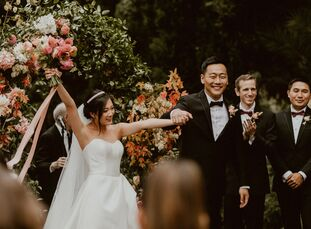"""Seres and Geoffrey wanted a wedding that was """"lush and whimsical. In other words, beautiful but not in a too serious kind of way, I wanted it to be a"""