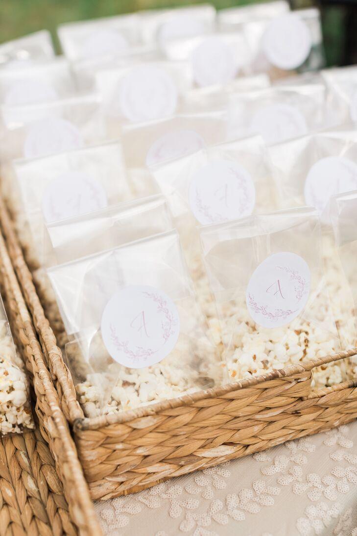 Monogrammed Popcorn Bags