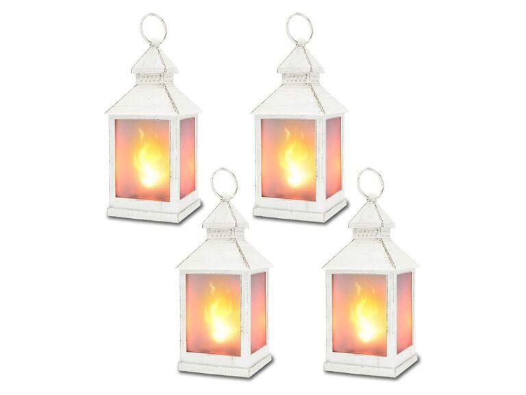 Zkee vintage decorative flickering lanterns
