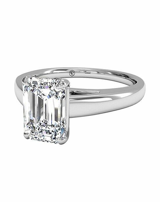 Ritani Emerald Cut Solitaire Diamond Cathedral Engagement Ring in Platinum Engagement Ring photo
