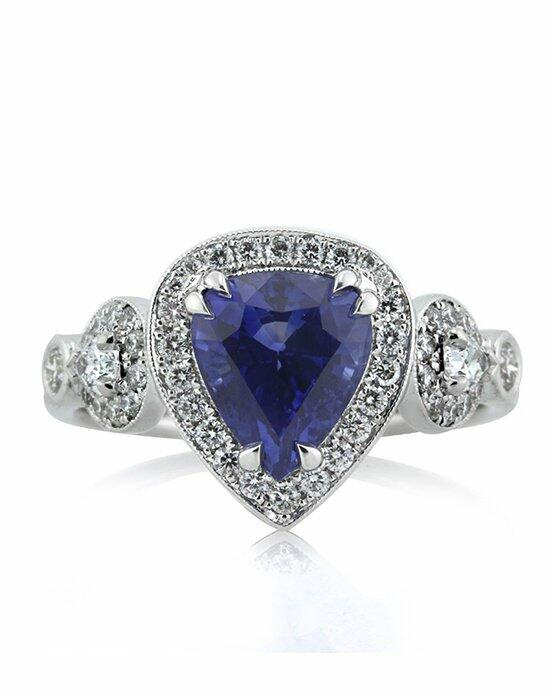 Mark Broumand 3.93ct Pear Shaped Sapphire and Diamond Engagement Ring Engagement Ring photo