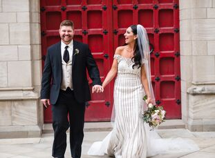 With a posh, Parisian aesthetic in mind, Dara Lisanti (25 and a general manager of family-owned business) and Andrew (AJ) Weber (32 and works in comme