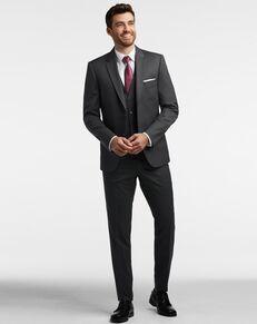 Men's Wearhouse Calvin Klein Charcoal Gray Performance Wool Suit Tuxedo