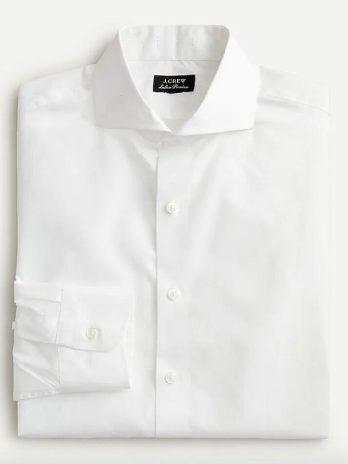 Classic white button-down shirt
