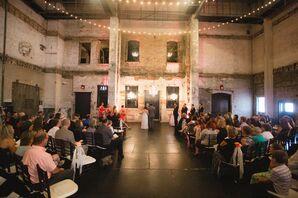 Urban, Industrial Wedding Ceremony at Aria