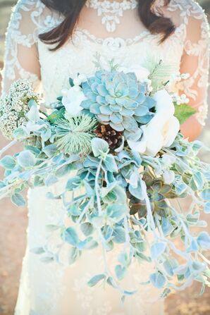 Ice Blue Succulent Bouquet