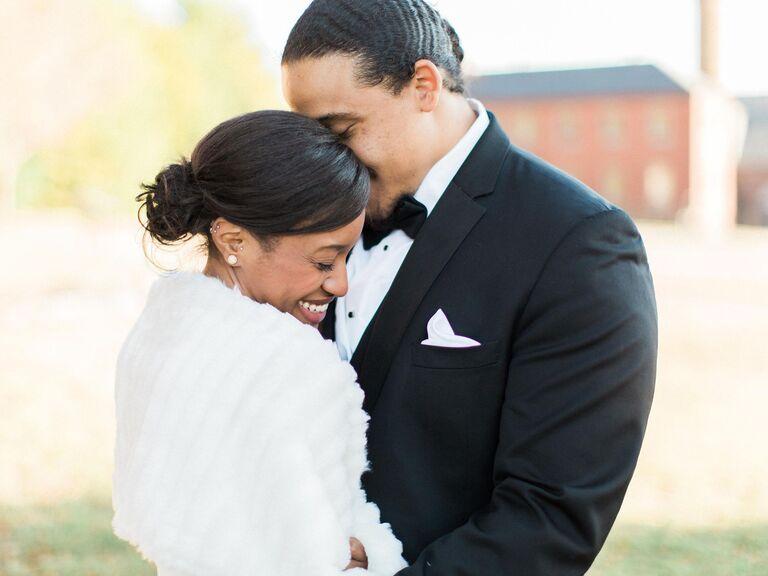 Virginia couple posing for wedding portrait