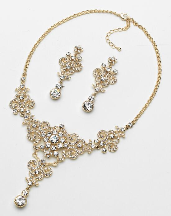 USABride Victorian Gold Rhinestone Jewelry Set (JS-1660-G) Wedding Necklaces photo