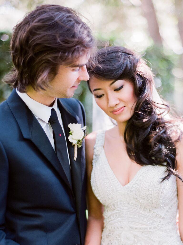 vintage wedding hairstyle glam waves