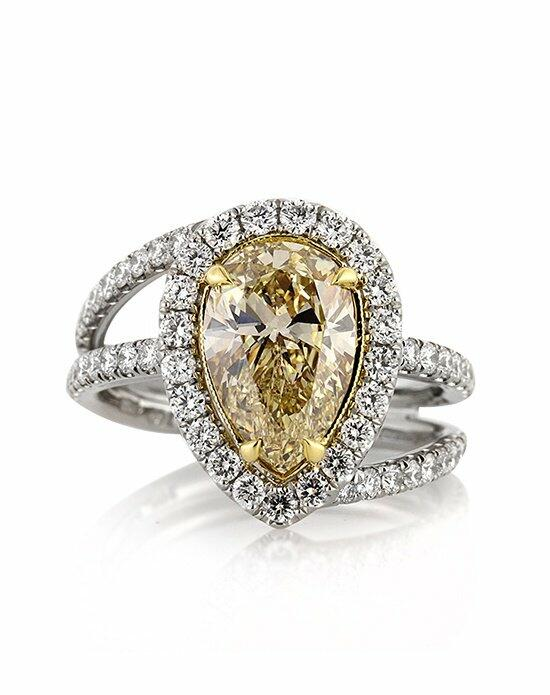 Mark Broumand 3.02ct Fancy Yellow Pear Shaped Diamond Engagement Ring Engagement Ring photo