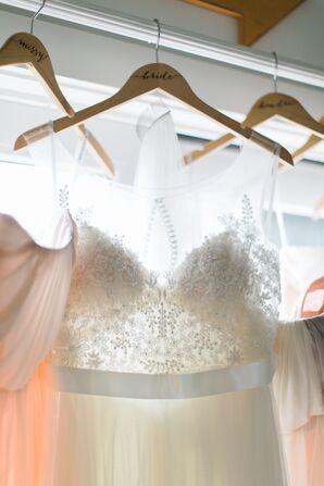 Watters Jacinda Illusion Neckline Wedding Dress