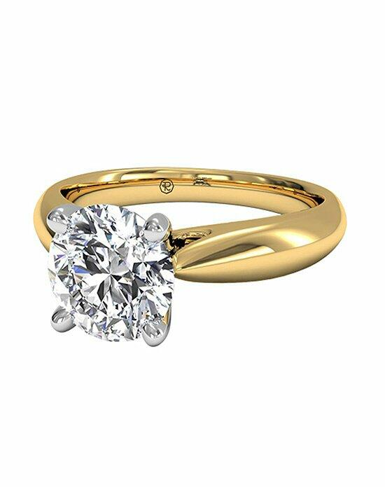 Ritani Round Cut Solitaire Diamond Cathedral Tapered Engagement Ring in 18kt Yellow Gold Engagement Ring photo