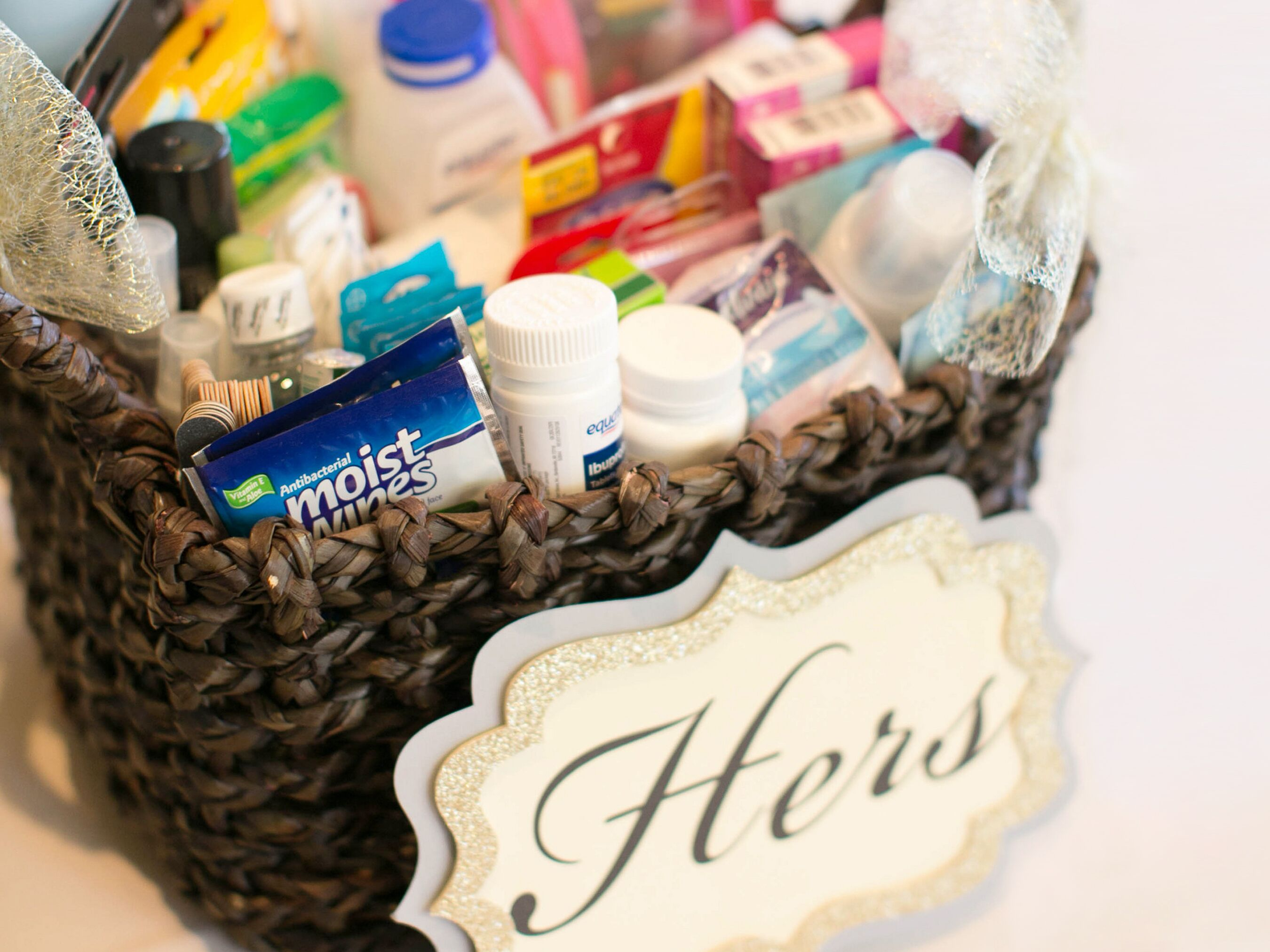 What To Put In A Wedding Bathroom Basket