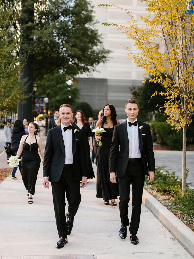 Fall wedding ideas black wedding attire