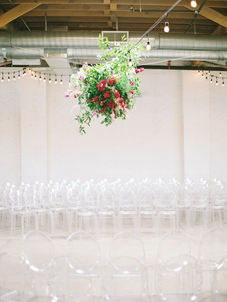 Modern Ceremony in the Round with Ghost Chairs