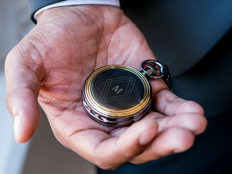 pocket watch wedding party gifts
