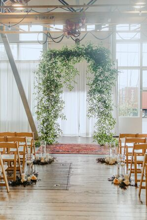 Greenery Ceremony Arch at Metropolist in Seattle, Washington