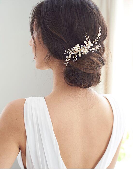 Dareth Colburn Angela Pearl Bridal Comb (TC-2051) Silver Pins, Combs + Clip