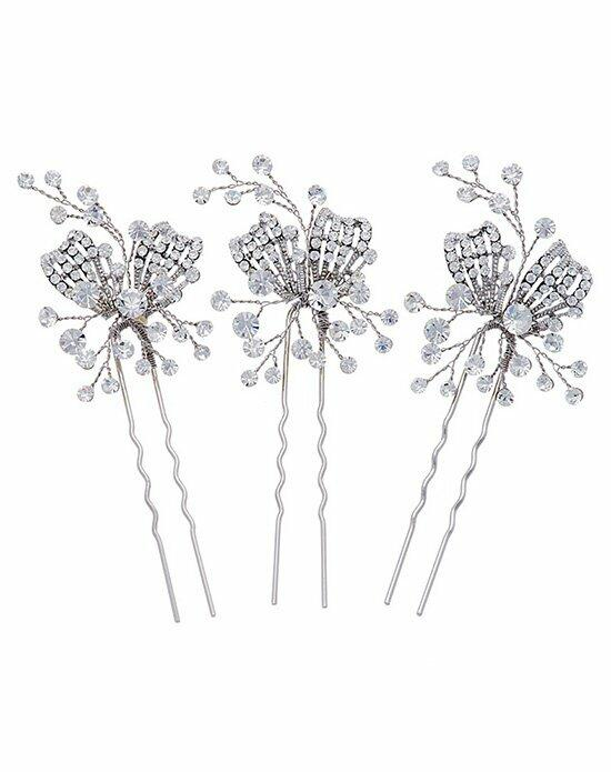 Thomas Laine Gwyneth Crystal Hair Pins - Set of 3 Wedding Pins, Combs + Clips photo