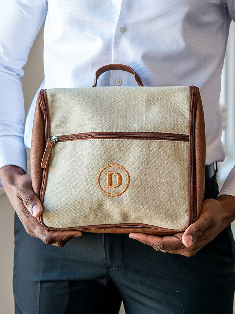 Groomsmen proposal gift custom toiletry bag
