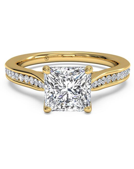 Ritani Channel-Set Diamond Engagement Ring with Surprise Diamonds - in 18kt Yellow Gold (0.14 CTW) for a Princess Center Stone Engagement Ring photo