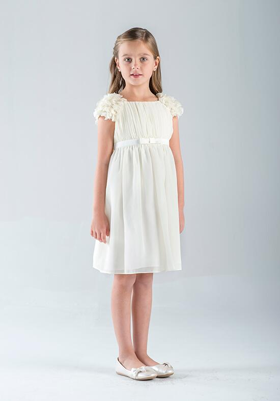 Us Angels Beautiful Color Victoria Chiffon Dress-670_ivory Flower Girl Dress photo