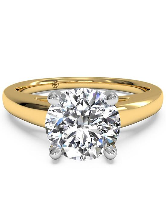 Ritani Solitaire Diamond Cathedral Engagement Ring - in 18kt Yellow Gold for a Round Center Stone Engagement Ring photo
