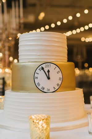 New Year's Eve-Inspired Wedding Cake
