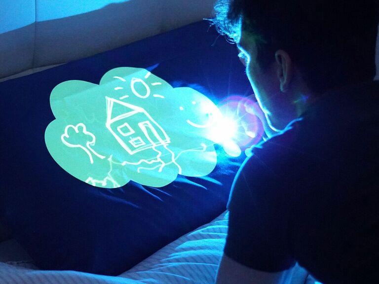 light up doodle pillow