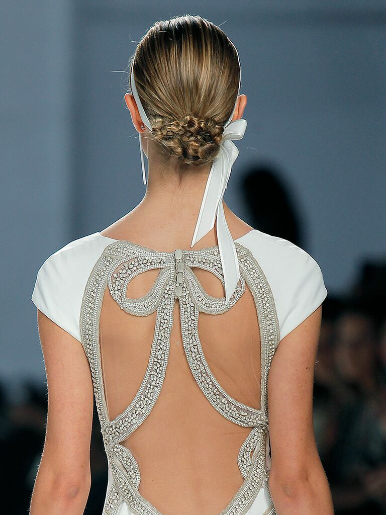 Braided chignon wedding hairstyle
