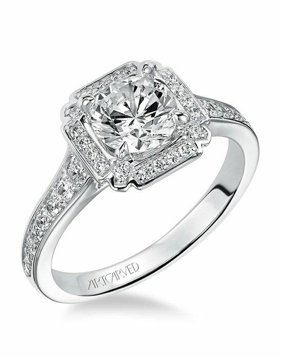 ArtCarved 31-V475ERW Engagement Ring photo