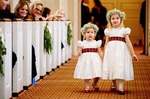 Plaid Ribbon-Tied Flower Girl Dresses