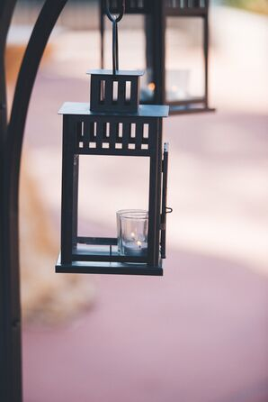 Simple Hanging Black Lanterns, Aisle Decorations