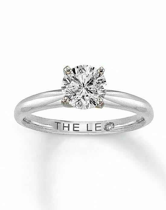 The Leo Diamond Leo Diamond Solitaire Ring 1 ct Round-Cut 14K White Gold Engagement Ring photo