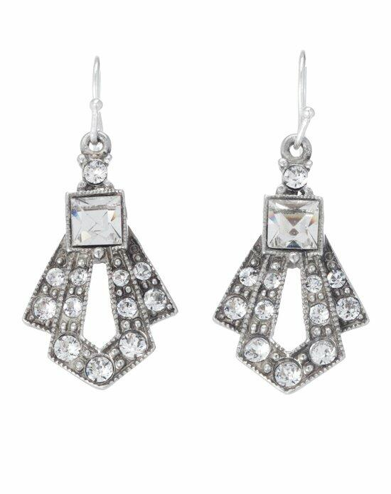 Thomas Laine Ben-Amun Mini Gatsby Crystal Drop Earrings Wedding Earrings photo