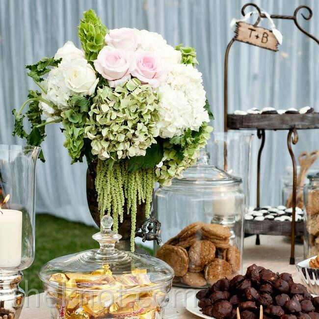 Terren's mom and other family members made desserts for the wedding, like salted-oatmeal white-chocolate-chip cookies and old-fashioned macarons.