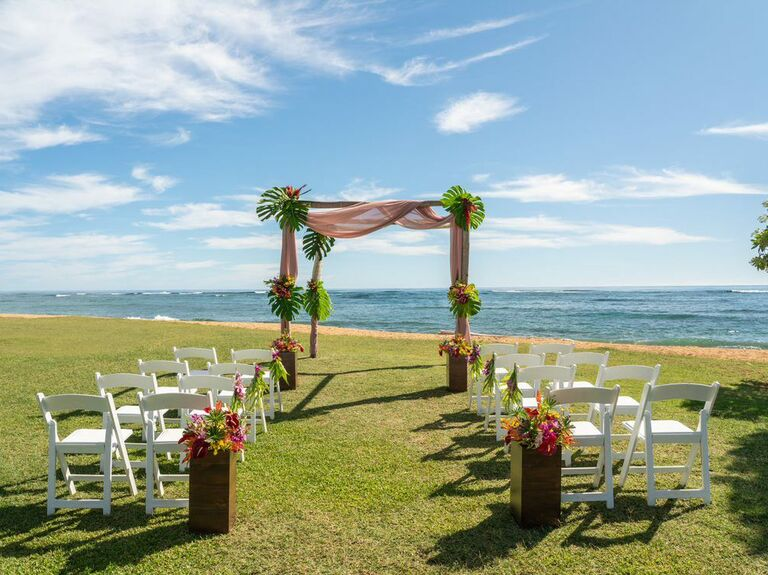 Wedding venue in Kauai, Hawaii.
