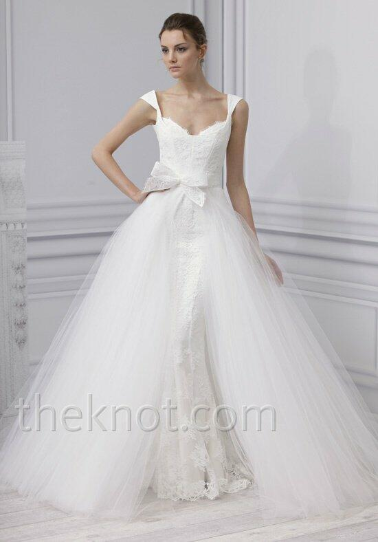 Monique lhuillier esme wedding dress the knot for Price of monique lhuillier wedding dresses