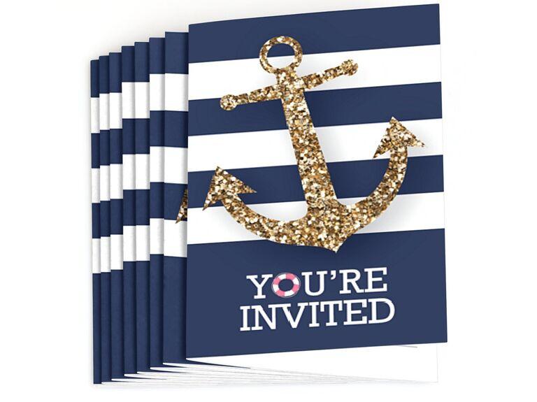 nautical themed bachelorette party invite