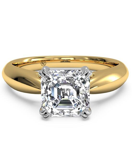 Ritani Solitaire Diamond Tulip Cathedral Engagement Ring - in 18kt Yellow Gold Engagement Ring photo