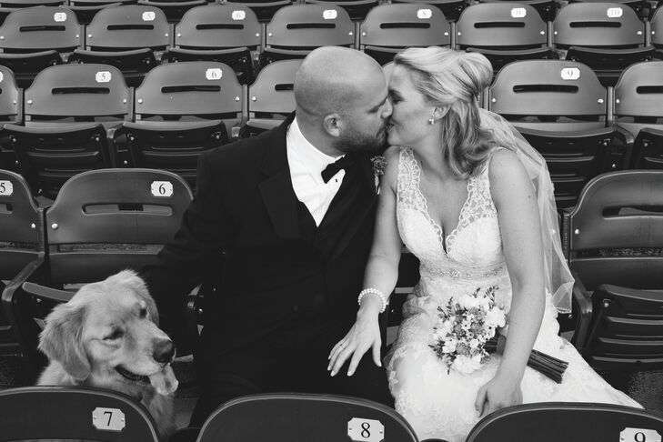 Paul's beloved golden retriever, Porter, was his best man. He even wore a bow tie for the occasion.