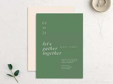 21 Modern Wedding Invitations for Any Theme