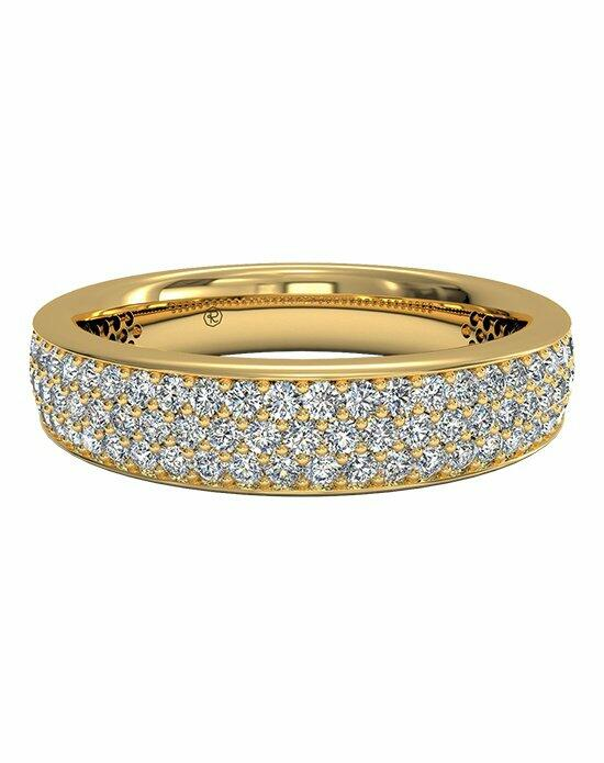Ritani Women's Triple Micropavé Diamond Wedding Band in 18kt Yellow Gold (0.70 CTW) Wedding Ring photo