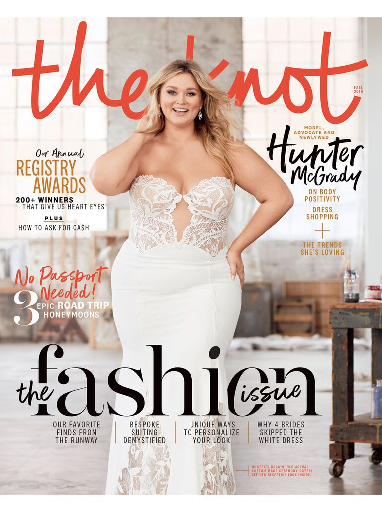 Hunter McGrady The Knot Fashion Issue Cover