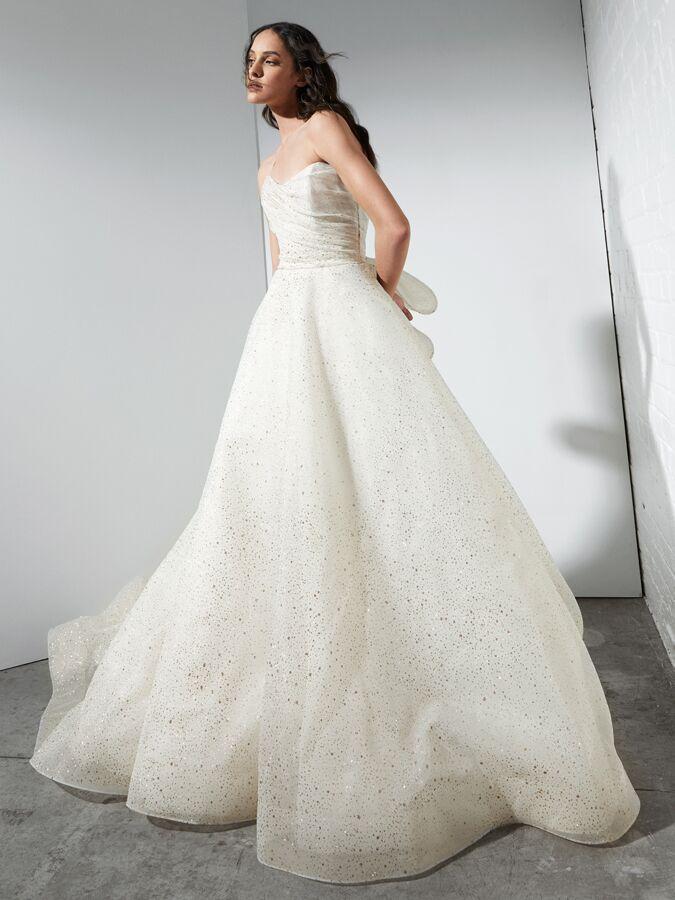 Rivini sparkle strapless ball gown
