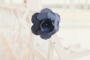 Contemporary Flower Aisle Marker