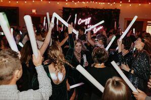 Guests Dance at Rustic Wedding